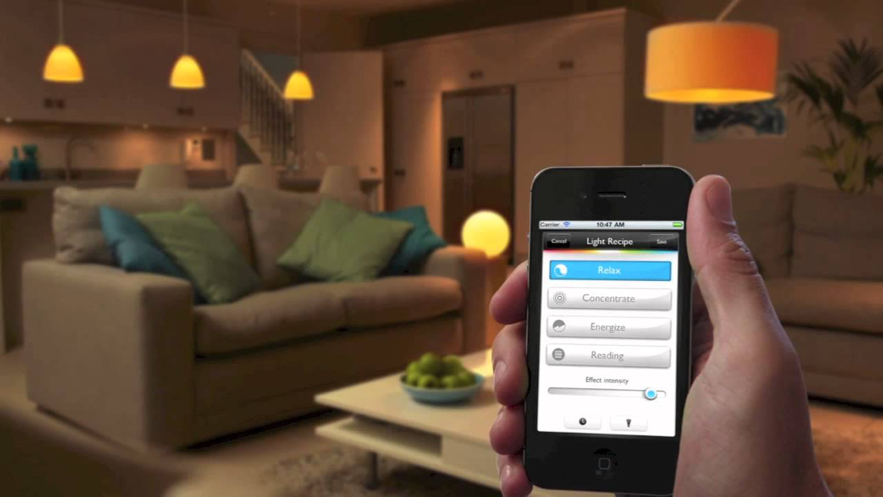 iPhone application to control the living room and kitchen