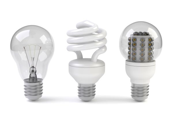 comparison between normal and LED bulb